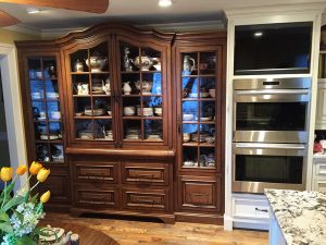 Fehrenbacher cabinets, custom cabinets, cabinetry, built in, chine cabinet, display cabinet, curio cabinet, kitchen, dining room, storage, dishes
