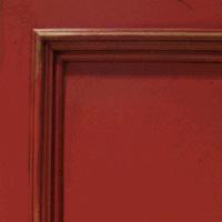 Red Burn-Thru Finish w/  Distressing & Glaze