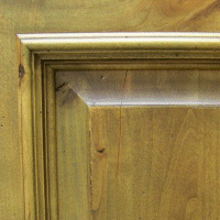 Rustic Alder w/ Distressing, Glaze & Burn-Thru Finish
