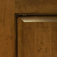 Rustic Stained Finish w/  Distressing  & Glaze