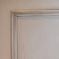 White Crackle Finish w/  Distressing  & Glaze