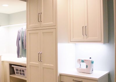Sewing niche and cabinets