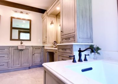 From tub to Cabinetry